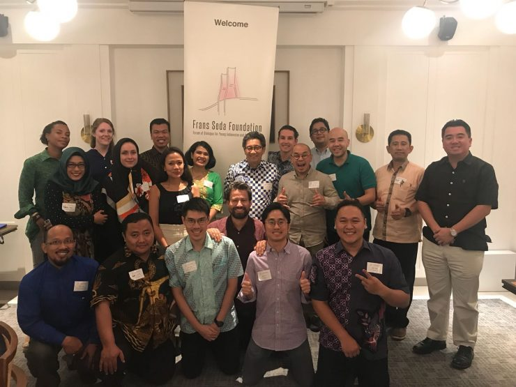 Frans Seda Fellows during the 1st Alumni Gathering in Jakarta on the 6th of July 2018,