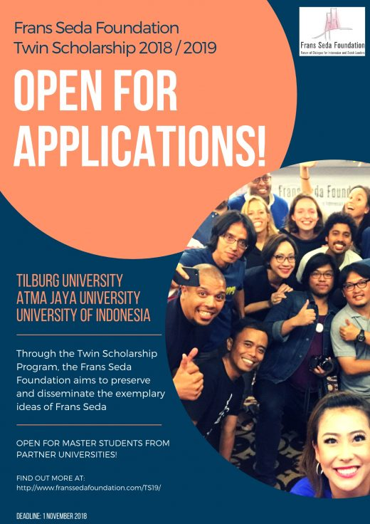 2018-2019 Frans Seda Foundation Twin Scholarship Program